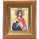 Михаил Архангел, Архистратиг, широкая деревянная рамка 14,5*16,5 см - Иконы