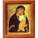 Ярославская Икона Божией Матери, деревянная рамка 8*9,5 см - Иконы