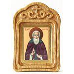 Преподобный Сергий Радонежский, икона в резной рамке - Иконы