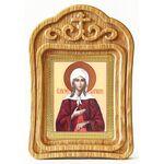 Блаженная Ксения Петербургская, икона в резной рамке - Иконы