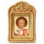 Святитель Николай Чудотворец, икона в резной рамке - Иконы