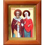 Священномученик Киприан и мученица Иустина, рамка 8*9,5 см - Иконы
