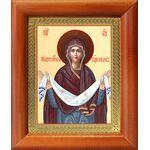 Покров Пресвятой Богородицы, икона в деревянной рамке 8*9,5 см - Иконы