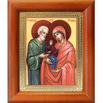 Праведные Иоаким и Анна, икона в деревянной рамке 8*9,5 см - Иконы