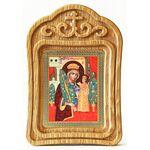 """Икона Божией Матери """"Неувядаемый Цвет"""", резная деревянная рамка - Иконы"""