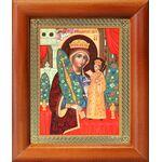 """Икона Божией Матери """"Неувядаемый Цвет"""", деревянная рамка 8*9,5 см - Иконы"""