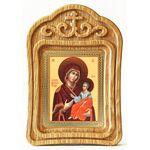 Иверская икона Божией Матери, резная деревянная рамка - Иконы