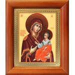 Иверская икона Божией Матери, деревянная рамка 8*9,5 см - Иконы