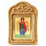 Ангел Хранитель ростовой, икона в резной деревянной рамке - Иконы