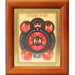 Всевидящее Око Господне, икона в деревянной рамке 8*9,5 см - Иконы