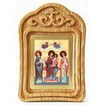 """Икона Божией Матери """"Экономисса"""", в резной деревянной рамке - Иконы"""