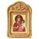 """Икона Божией Матери """"Скоропослушница"""", в резной деревянной рамке - Иконы"""