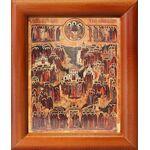 Образ всех святых, в Земле Российской просиявших, рамка 8*9,5 см - Иконы