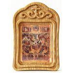 Образ всех святых, в земле Российской просиявших, икона в резной рамке - Иконы