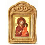 Тихвинская икона Божией Матери, резная рамка - Иконы