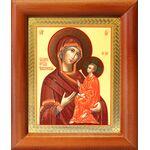 Тихвинская икона Божией Матери, деревянная рамка 8*9,5 см - Иконы