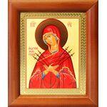 """Икона Божией Матери """"Умягчение злых сердец"""", деревянная рамка 8*9,5 см - Иконы"""
