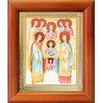 Собор Архангела Михаила, икона в деревянной рамке 8*9,5 см - Иконы
