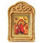 Зачатие Пресвятой Богородицы, икона в резной деревянной рамке - Иконы
