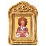 Преподобный Алексий человек Божий, икона в резной рамке - Иконы