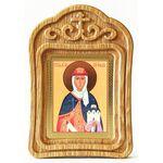 Равноапостольная княгиня Ольга, икона в резной рамке - Иконы