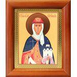 Равноапостольная княгиня Ольга, икона в деревянной рамке 8*9,5 см - Иконы