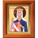 Равноапостольная царица Елена, икона в деревянной рамке 8*9,5 см - Иконы