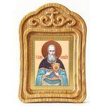 Праведный Иоанн Кронштадтский, икона в резной деревянной рамке - Иконы