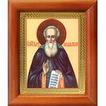 Преподобный Александр Свирский, икона в деревянной рамке 8*9,5 см - Иконы