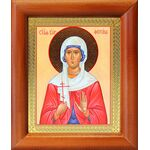 Мученица Фотина Самаряныня Римская, икона в деревянной рамке 8*9,5 см - Иконы