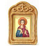 Мученик Вонифатий Тарсийский, икона в резной деревянной рамке - Иконы