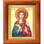 Мученик Вонифатий Тарсийский, икона в деревянной рамке 8*9,5 см - Иконы