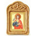 Мученик Трифон Апамейский, икона в резной рамке - Иконы