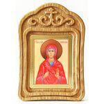 Мученица Наталия Никомидийская, икона в резной деревянной рамке - Иконы