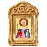 Равноапостольная Нина просветительница Грузии, икона в резной рамке - Иконы