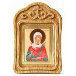 Мученица Алевтина Кесарийская, Валентина, икона в резной рамке - Иконы