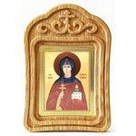 Преподобная Евфросиния Полоцкая, икона в резной деревянной рамке - Иконы