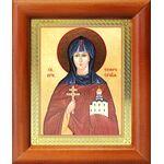 Преподобная Евфросиния Полоцкая, икона в деревянной рамке 8*9,5 см - Иконы