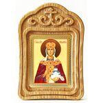 Мученица Людмила Чешская, икона в резной деревянной рамке - Иконы