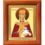 Мученица Людмила Чешская, икона в деревянной рамке 8*9,5 см - Иконы