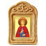Мученица Иулия Карфагенская, икона в резной рамке - Иконы