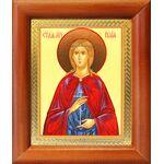 Мученица Иулия Карфагенская, икона в деревянной рамке 8*9,5 см - Иконы