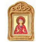 Праведная Анна, икона в резной деревянной рамке - Иконы