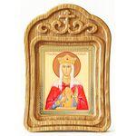 Мученица Александра, царица Римская, икона в резной рамке - Иконы