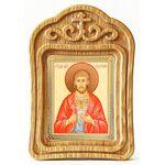 Мученик Евгений Севастийский, икона в резной деревянной рамке - Иконы