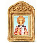 Святитель Никита Новгородский, икона в резной рамке - Иконы