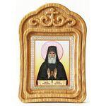 Преподобный Паисий Святогорец, икона в резной деревянной рамке - Иконы