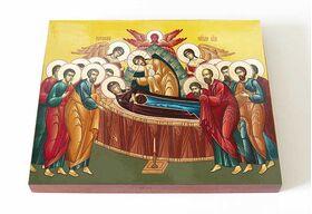 Успение Пресвятой Богородицы, икона на доске 13*16,5 см - Иконы
