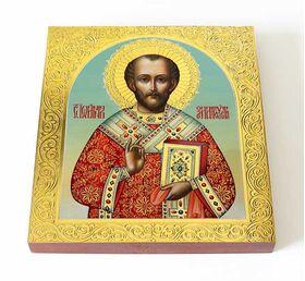 Святитель Иоанн Златоуст, икона на доске 14,5*16,5 см - Иконы