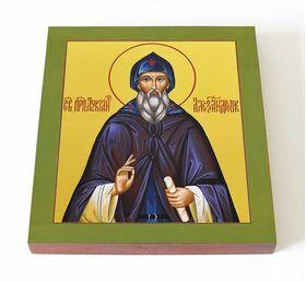 Преподобный Лукиан Александровский, икона на доске 14,5*16,5 - Иконы